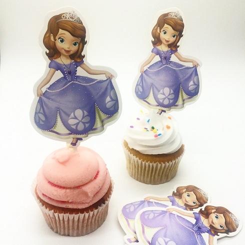 Topper de cupcake Sofia