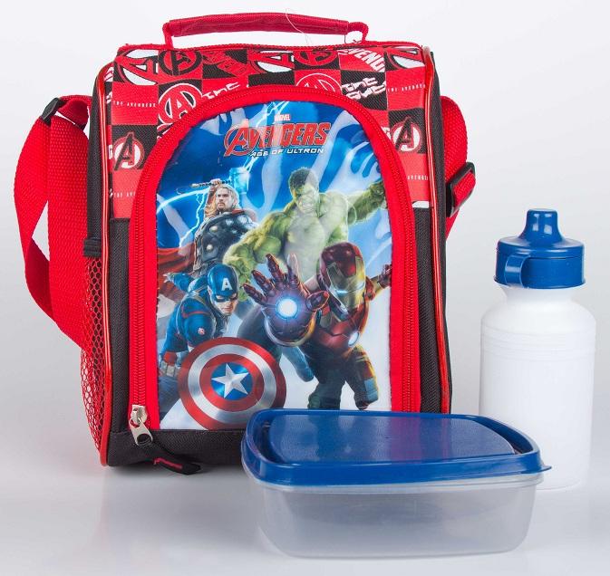 Lonchera Avengers con accesorios