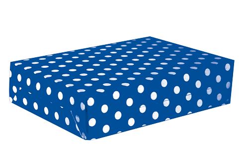Caja para torta Polka azul
