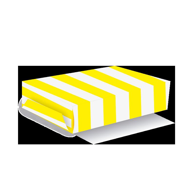 Caja para torta rayas amarillos