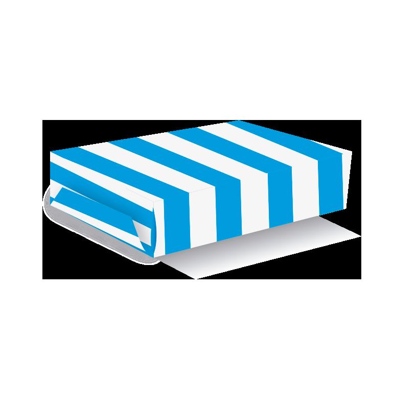 Caja para torta rayas turquesa