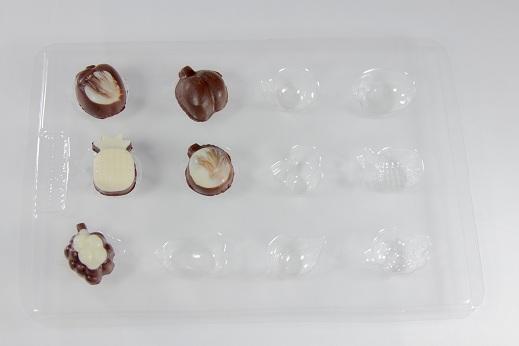 Molde Chocolate Frutas